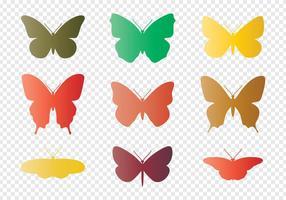 Silhuetas das borboletas vetor