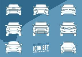 Ícones da coleção dos carros vetor