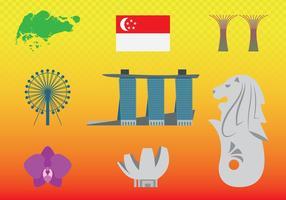 Conceito do curso do projeto de Singapore vetor