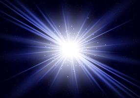 Explosão da estrela azul vetor