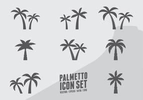 Ícones da árvore de coco vetor