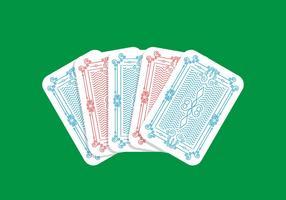 Jogando cartão de volta vetor