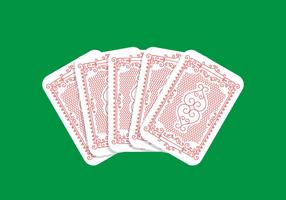 Desenho de cartas de jogar vetor