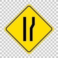 sinal de alerta de tráfego amarelo em fundo transparente