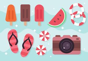Elementos livres do feriado de verão vetor