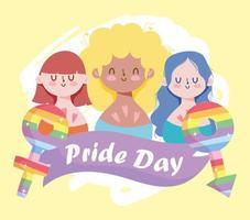 personagens de desenhos animados lgbtqi para a celebração do orgulho