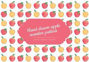 Vetorial, mão, desenhado, maçãs, Seamless, Padrão vetor