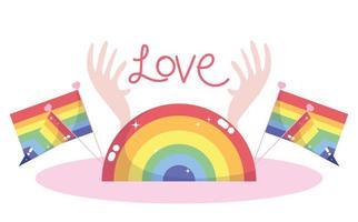 composição lgbtqi dos desenhos animados para a celebração do orgulho