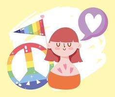 personagem de desenho animado lgbtqi para celebração do orgulho