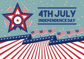 Poster do vetor do 4 de julho do Dia da Independência