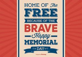 Ilustração retro do Dia do Memorial Day vetor