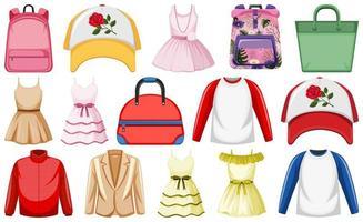 conjunto de roupas simulado vetor