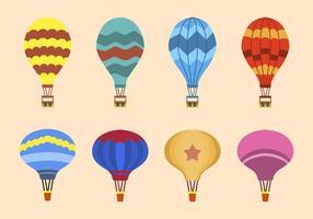 Vetores planos do balão de ar quente