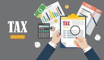 auditoria de processo fiscal vetor