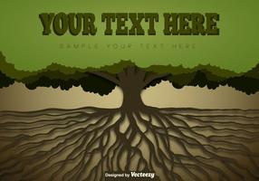Árvore com molde das raizes