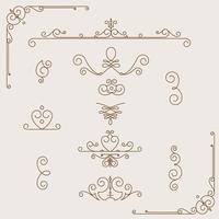 coleção de padrões vintage vetor