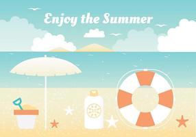 Elementos livres do vetor das férias de verão