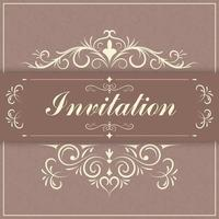 borda de papel convite vintage vetor