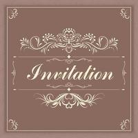 capa de convite vintage