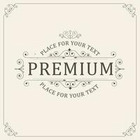 ornamento vintage cartão caligrafia vetor