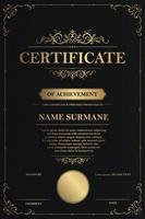 modelo de certificado de agradecimento vetor
