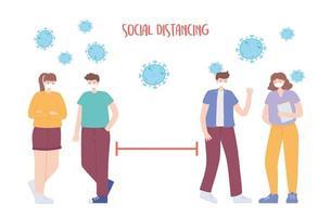 prevenção do coronavírus com distanciamento social