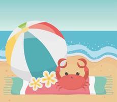 férias de verão divertidas e composição de praia