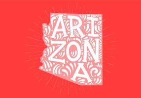 Estado do Arizona lettering vetor