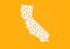 Califórnia, estado, lettering vetor