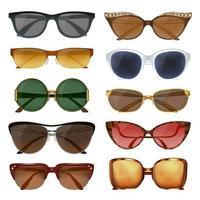conjunto de óculos de sol de verão vetor