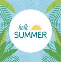 Olá férias de verão e composição da praia