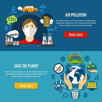 conjunto de banner de poluição