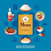 conceito de menu de restaurante vetor