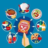 gráfico do menu do restaurante