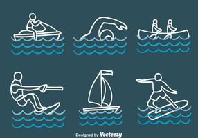 Esboço, água, desporto, vetores