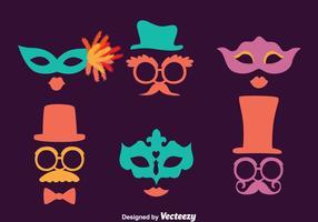 Mascarada, máscara, cobrança, vetores