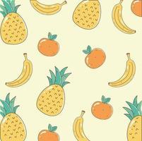 frutas frescas padrão de fundo vetor
