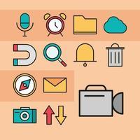 conjunto de ícones da interface do usuário