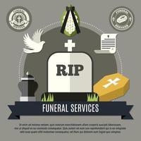 banner de modelo de serviços funerários