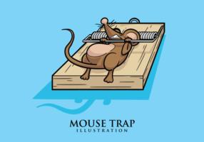 Ilustração do rato armadilha vetor