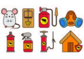 Controle de pragas e ícones da armadilha do rato vetor