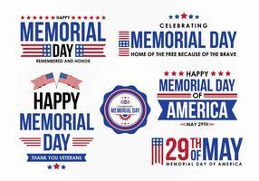 Memorial Day Vector Design Elemento