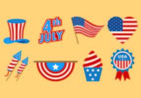 Jogo de ícones do Dia da Independência vetor