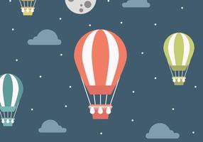 Paisagem do vetor com balões de ar