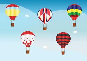 Pacote de vetores de balão de ar quente