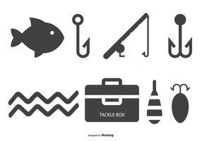 Coleção do ícone da pesca vetor