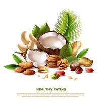 banner de modelo de alimentação saudável realista vetor