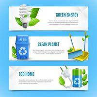conjunto de banner de modelo de ecologia