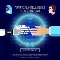 banner modelo de inteligência artificial vetor