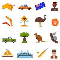 conjunto de ícones australianos